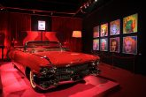 "A 1957 Cadillac Eldorado is displayed alongside ""Marilyn Monroe""by American Pop Art legend Andy Warhol"