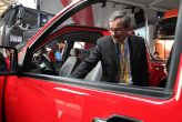 David Dunahay, President of FAW-GM Light Duty Commercial Vehicle, introduces Kuncheng pickup to the media at Auto Shanghai