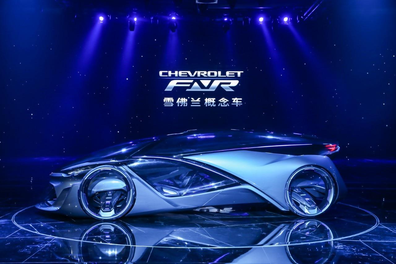 """雪佛兰概念车CHEVROLET-FNR在""""上海通用汽车之夜""""全球首发"""
