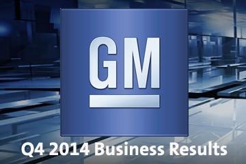 通用汽车2014年第四季度实现净利润11亿美元
