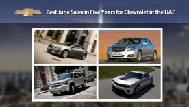 Best June Sales in Five Years for Chevrolet in the UAE
