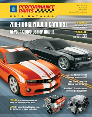 GM PERFORMANCE PARTS RELEASES 2011 CATALOG