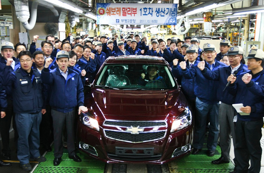 Kết quả hình ảnh cho GM korea