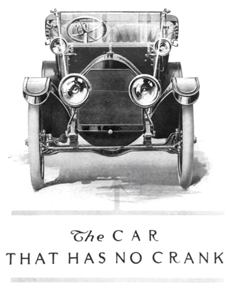 1911 : Cadillac Announces Self-Starting Motor