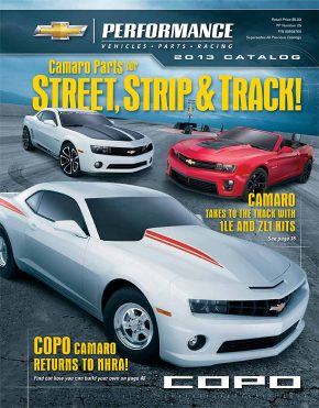 2013 Chevrolet Performance Catalog Features New Camaro Parts