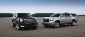 2015 GMC Yukon Denali (L) and Yukon XL SLT
