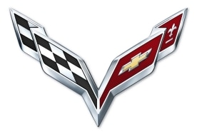 2014 Corvette Crossed Flag Logo