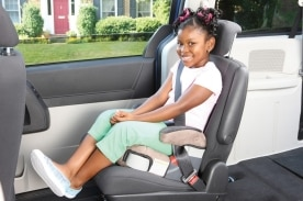 While this child is properly restrained in a booster seat, Safe Kids Worldwide released a study today revealing nine in 10 parents move their kids from booster seats to seat belts too soon.