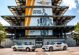 Nine Generations Of Chevrolet Camaro Indy 500 Pace Cars