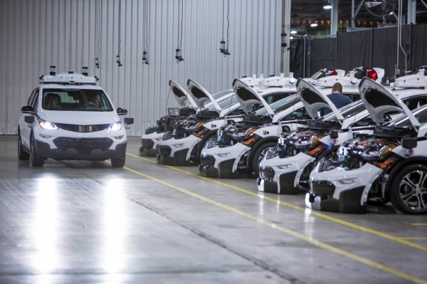 Gm Produces First Round Of Self Driving Chevrolet Bolt Ev Test Vehicles