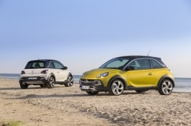 Opel ADAM ROCKS, Color White my fire and Opel ADAM ROCKS, Color Gold Busters