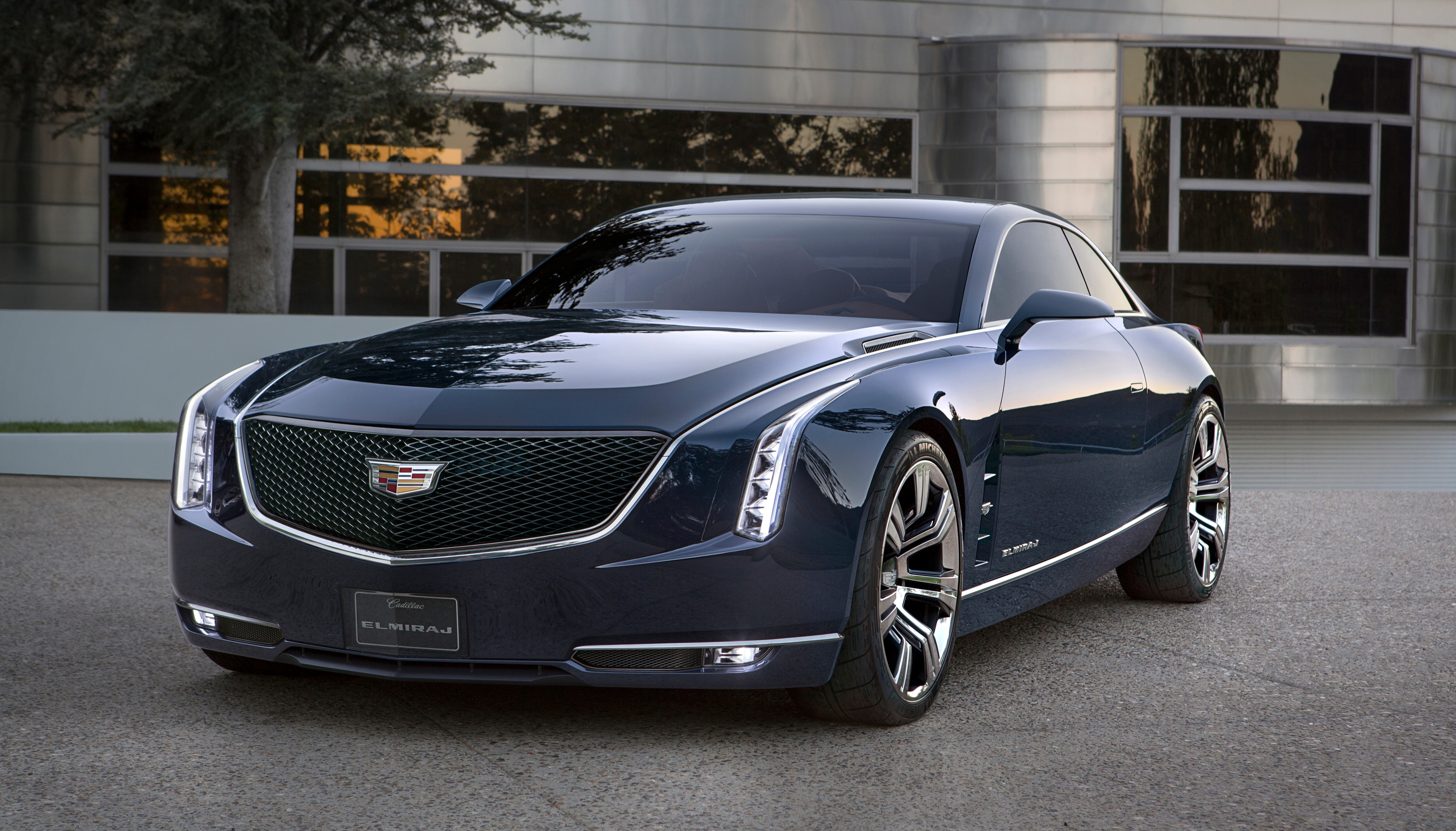 Cadillac today revealed the elmiraj concept a grand coupe expressing the pure enjoyment of driving and exploring new dimensions for cadillac s ongoing