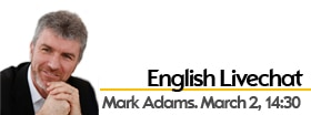 English Web Chat with Mark Adams