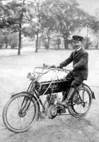 Opel one-cylinder motorcycle with 3 3/4 hp, from 1905.
