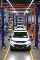 Chevrolet Bolt EV autonomous test vehicles are assembled at General Motors Orion Assembly in Orion Township, Michigan. (Photo by Jeffrey Sauger for General Motors)