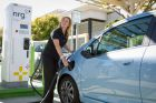 Chevy Spark EV Gets Charged At First Public Dharging Station