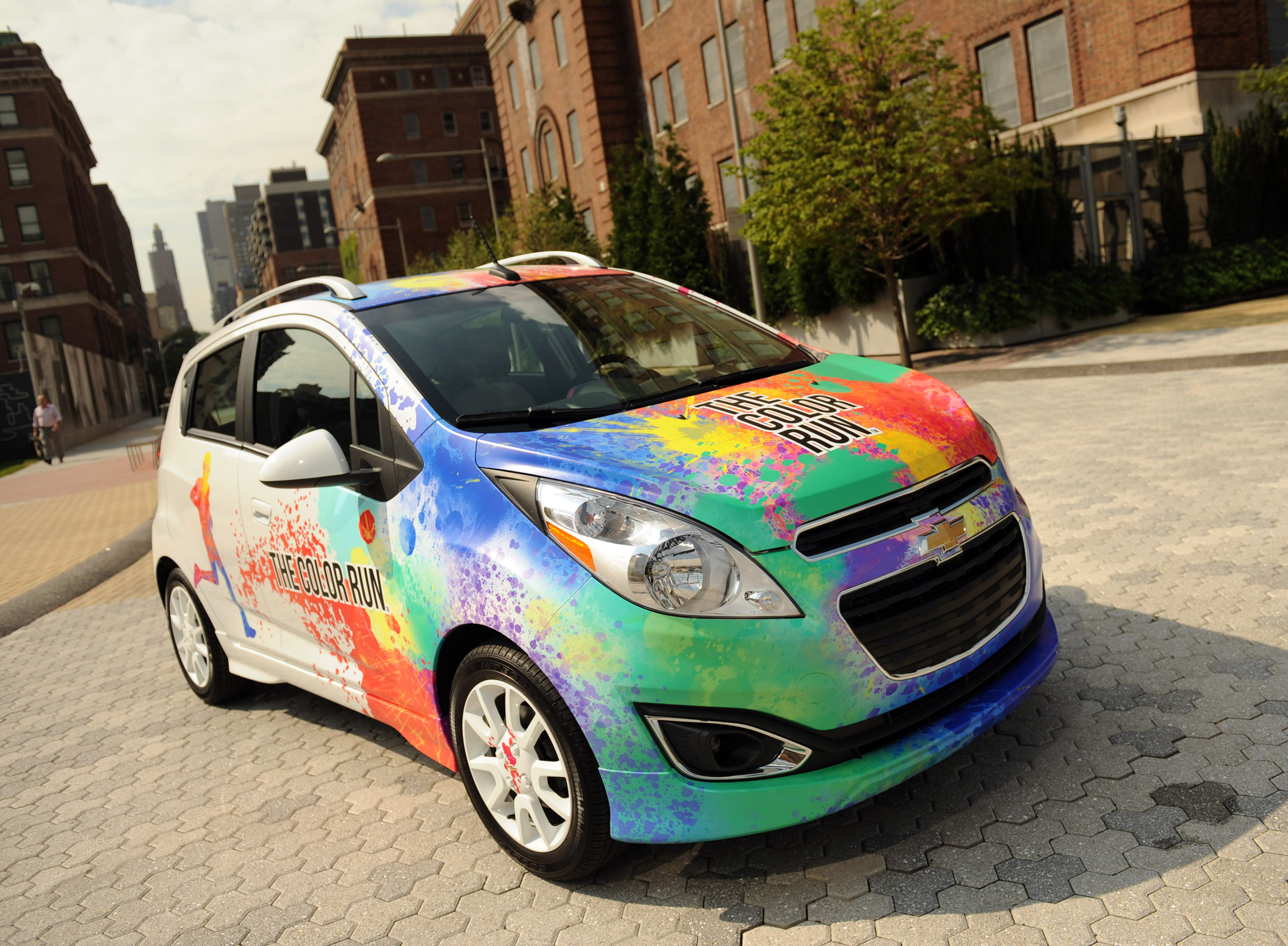 Fit To Be Dyed Chevrolet Spark Suits Up For The Color Run