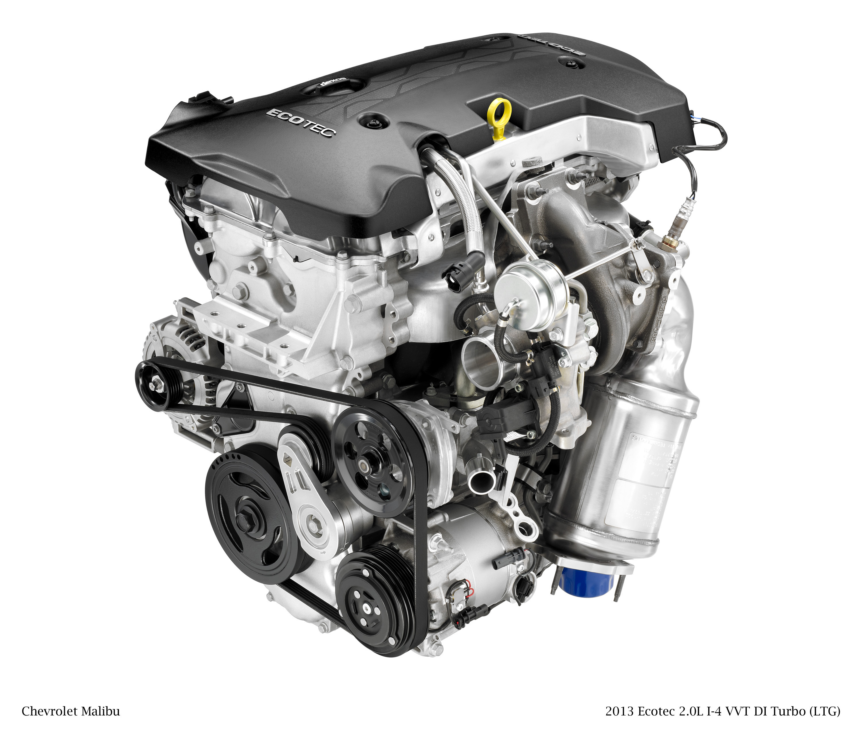 New 20l Turbo Engine Gives The 2013 Chevrolet Malibu Enhanced Spark Origin Performance And Refinement