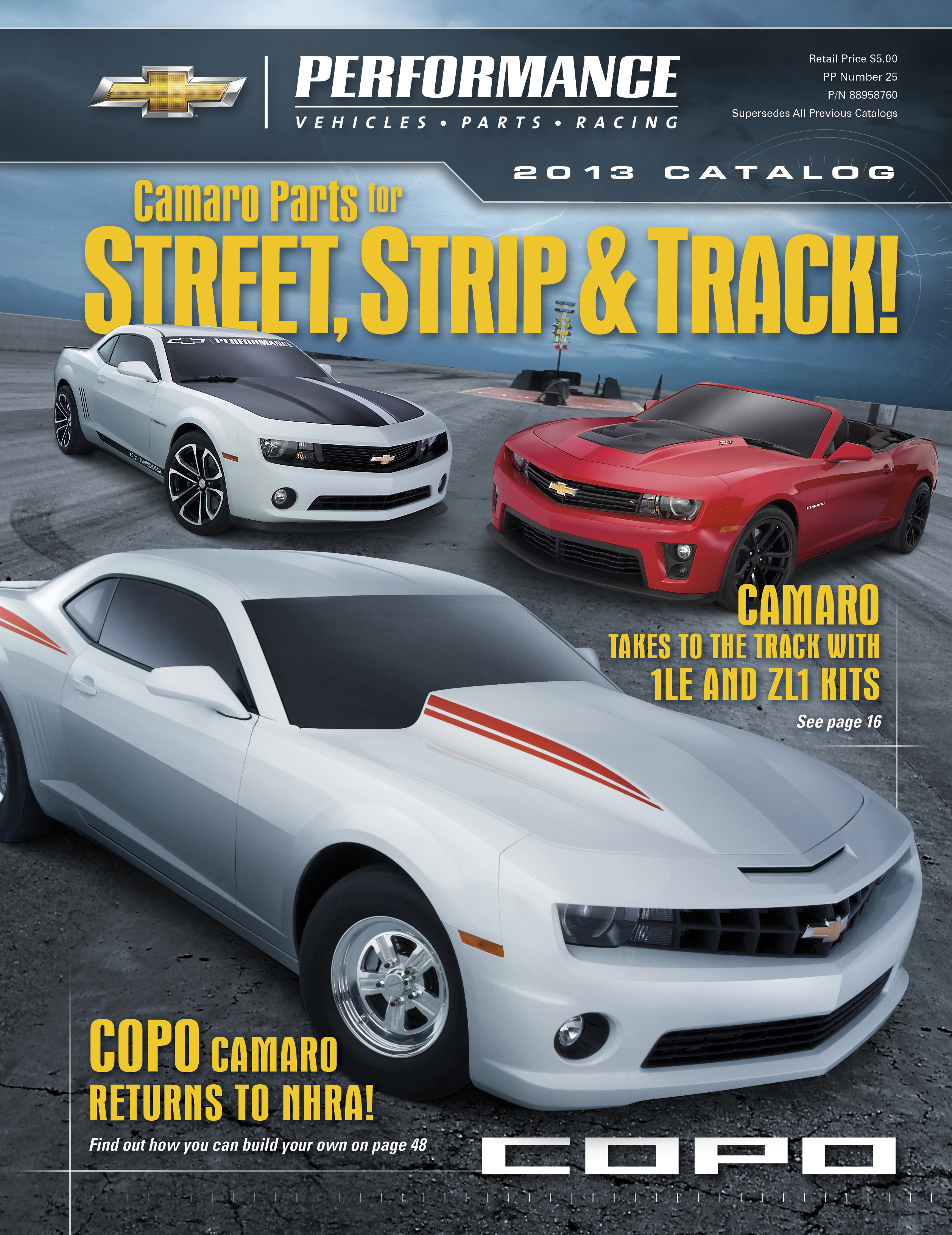2017 Chevrolet Performance Catalog Features New Camaro Parts For The Street Strip And Road Course