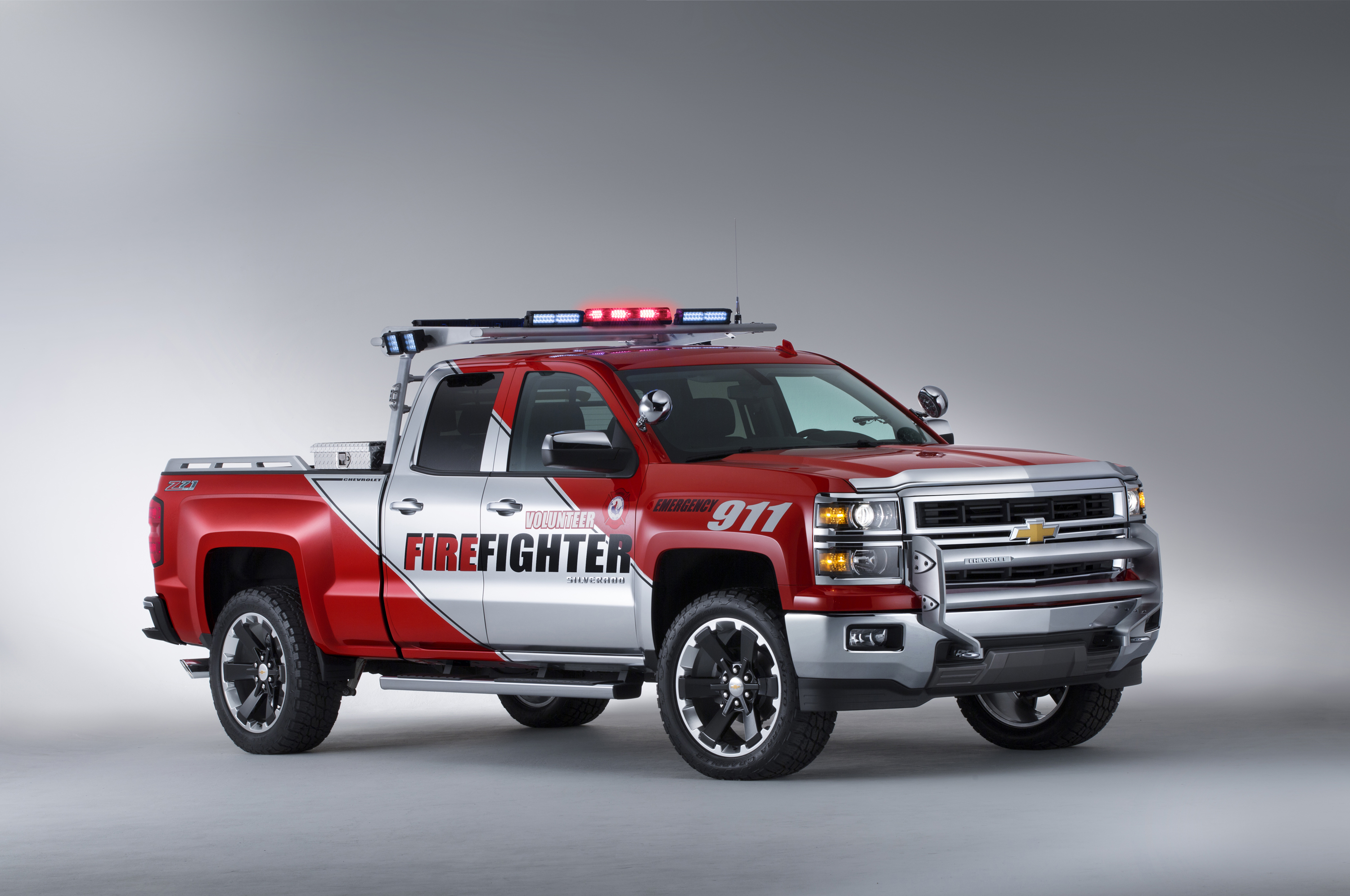 Silverado volunteer firefighter concept can take the heat