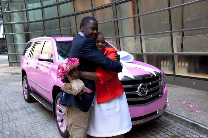 cadillac celebrates teddy bridgewater and rose murphy cadillac celebrates teddy bridgewater