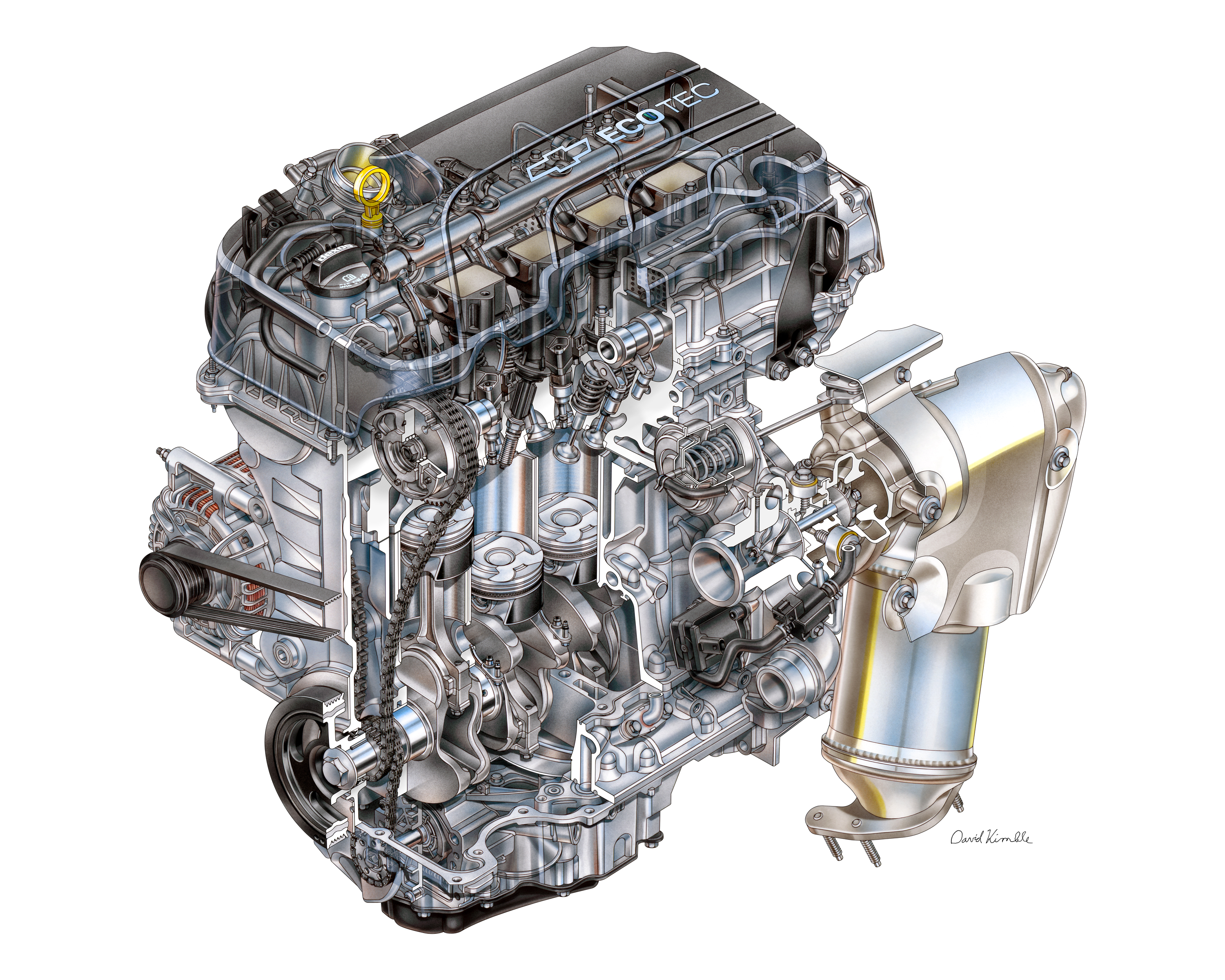 2016 Chevrolet Cruze Features New Ecotec Engines Chevy Timing Marks Diagram