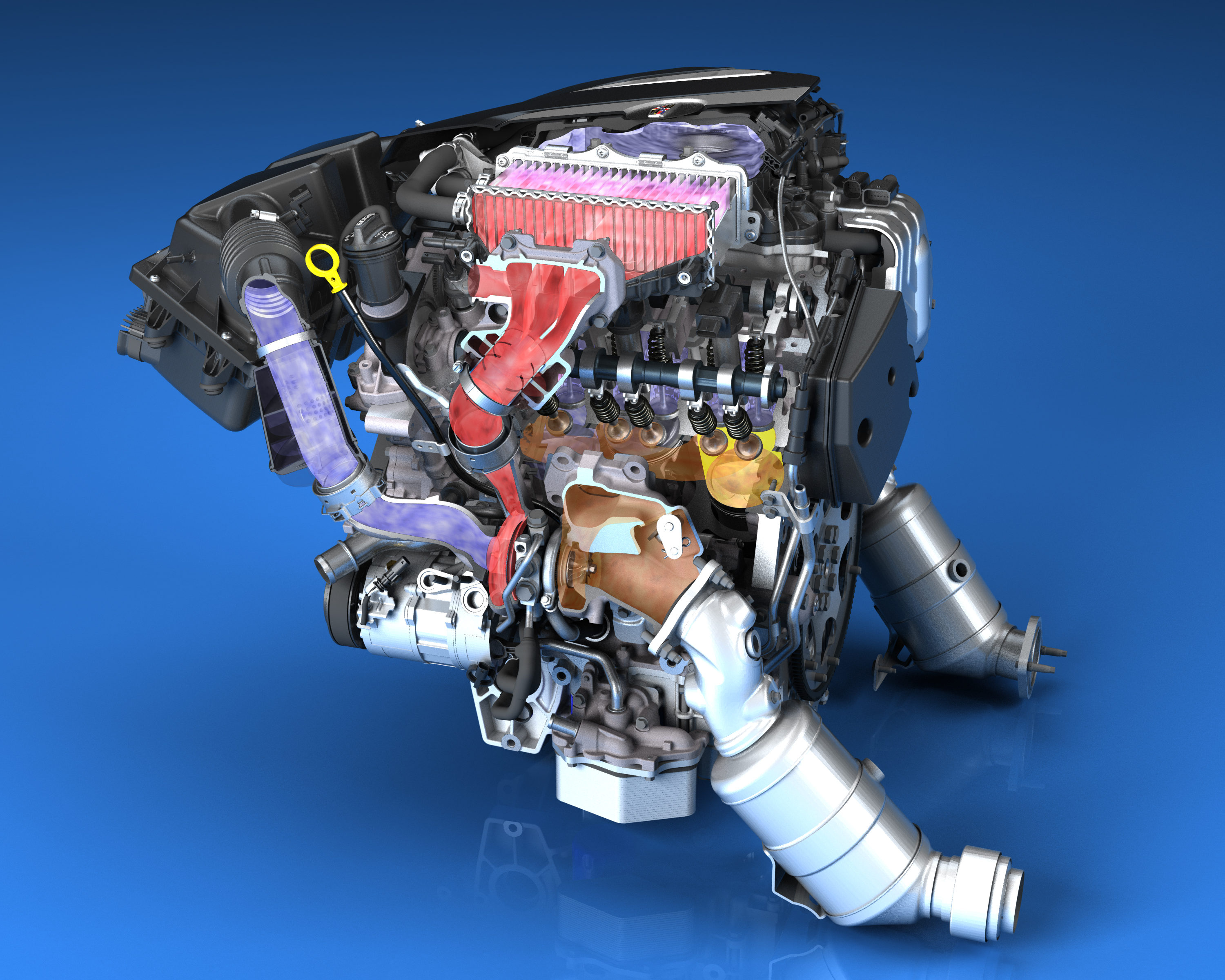 Cadillac Next-Gen V-6 Engines Led by 3 0L Twin Turbo