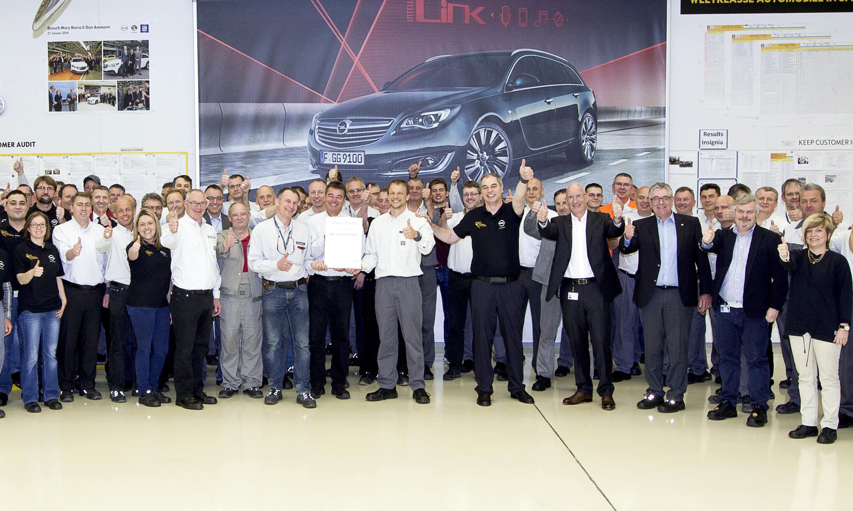 Bestmarke bei Opel: 20 Millionen unfallfreie Arbeitsstunden